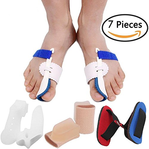 Bunion Corrector Bunion Relief Protector Sleeves Kit, Big Toe Corrector Straightener Separator Treat Pain in Hallux Valgus, Big Toe Joint, Hammer Toe, Splint Aid Surgery Treatment