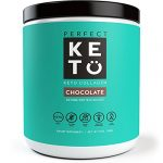 Perfect Keto Protein Powder – Pure Grass-fed Collagen Peptides & MCT Oil Low Carb Protein – Vital For Ketosis & Ketogenic Diets – Meal Replacement Shake for Women & Men. Chocolate