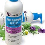 Pure Relief Melatonin Sleep Cream. Night cream to help you fall asleep.