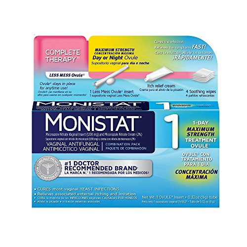MONISTAT 1-Day Maximum Strength Vaginal Antifungal, Combination Pack, 1 ea
