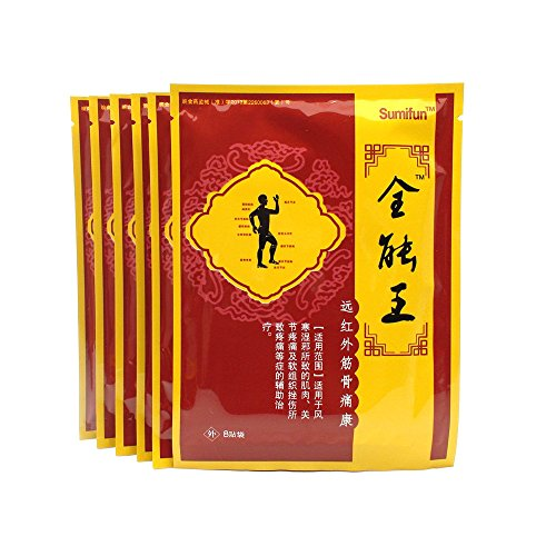 Sumifun Back Pain Patch, Chinese Muscle & Joint Pain Killer Almighty King Plaster Arthritis Pain Relief Medications (6)