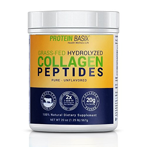 Grass Fed Hydrolyzed Collagen Peptides | Double Strength Collagen Powder | 100% Natural Dietary Supplement | More Servings (28 to 56 Servings - 20oz) | Certified Paleo | Unflavored