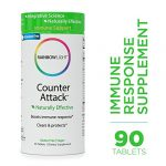 Rainbow Light – Counter Attack – Vitamin C and Zinc Supplement; Vegan and Gluten-Free; Herbal Blend Provides Immune Support, Boosts Immune System Health and Response – 90 Tablets