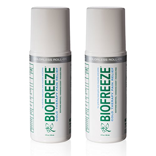 Biofreeze Pain Relief Gel for Arthritis, 3 oz. Roll-On Cold Topical Analgesic, Fast Acting & Long Lasting Cooling Pain Reliever for Muscle, Joint, & Back Pain, Colorless Formula, Pack of 2, 4% Menthol