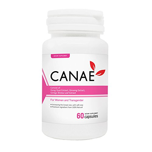 CANAE BIG Breast Enhancement and Enlargement for Women Increase BooB Bust Size Pills, Consist of Ginseng Natural Extract, 60 Capsules