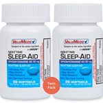 ValuMeds Nighttime Sleep Aid (Twin Pack – 192 Softgels) Diphenhydramine HCl, 50 mg | Supports Deeper, Restful Sleeping for Men, Women (Compare to Active Ingredient in Unisom SleepGels)