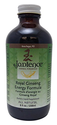 Jadience Royal Ginseng Energy Formula - Liquid Dietary Supplement - 8oz | Increase Metabolism, Burn Fat | Dong Quai Tea Extract Helps Boost Vitality, Energize Daily Activity & Helps Sleep Disorders