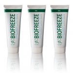 Biofreeze Pain Relief Gel for Arthritis, 4 oz. Cold Topical Analgesic, Fast Acting Cooling Pain Reliever for Muscle, Joint, & Back Pain, Works Like Ice Pack, Original Green Formula, 3 pack, 4% Menthol