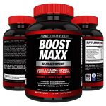 BoostMAXX Male Enhancement Pills   Enhancing Libido, Drive, Performance, Boost Testosterone   Horny Goat Weed Yohimbe Maca 60 Pills Herbal Supplement   Arazo Nutrition