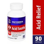 Enzymedica – Acid Soothe, Assists with Acid Reflux, Occasional Heartburn & Indigestion, 90 Capsules (FFP)