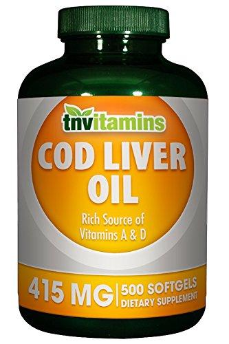 Norwegian Cod Liver Oil Softgels 415 Mg 500 Softgels