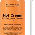 Majestic Pure Anti Cellulite Cream, 87% Organic Fat Burner Cream, Tight Muscles & Joint and Muscle Pain, Natural Cellulite Treatment – Soothes, Relaxes, and Tightens Skin – 9 Oz
