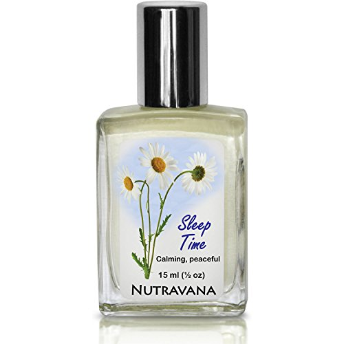 Sleep Time -Natural Sleep Aid for Kids, Adults -Therapeutic Herbal Remedy by Nutravana to Calm Relax Rest Recover Aromatherapy Essential Oil Roll-on Ready Synergy Blend Lavender Chamomile Neroli+ 15ml
