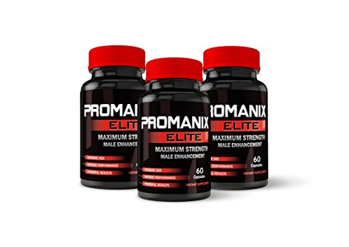 Promanix Elite Male Enhancement Pills - 3-Month Supply - Erection Pills - Enlargement Pills for Men - Testosterone Booster - Increase Size, Stamina, Sex-Drive - Maca, Tribulus - Male Performance Pills