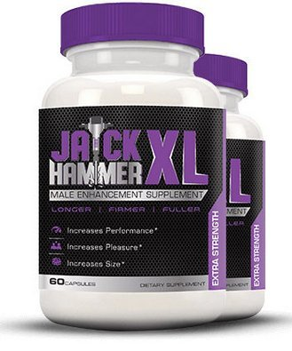 Jack Hammer XL - Male Enhancing Pills - Last Longer, Size Gain, Erection Quality | With Horny Goat Weed to Boost Testosterone Levels | Best Seller
