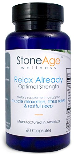Relax Already - Natural Muscle Relaxer - Natural Stress Aid - 60 Capsules