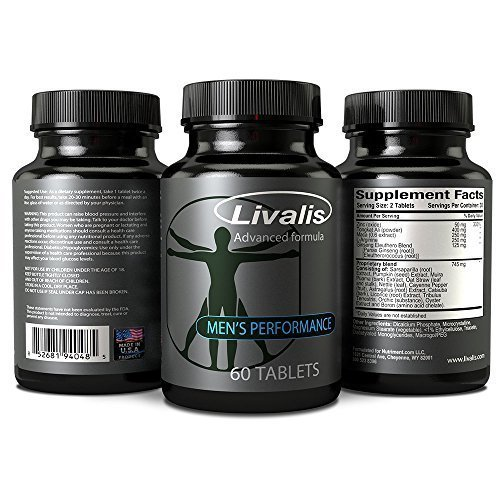 Livalis Male Enhancement Pills Get Bigger, Longer and Harder Helps Increase Blood Flow, Erection Quality and Sexual Performance Made in the USA Guaranteed Results by Nutriment