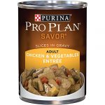 Purina Pro Plan Wet Dog Food, Savor, Adult Chicken & Vegetables Entre Slices In Gravy, 13-Ounce Can, Pack of 12