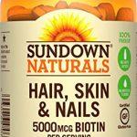 Sundown Naturals Hair, Skin & Nails 5000 mcg of Biotin, 120 Tablets