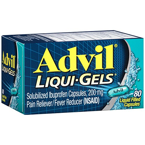Advil Liqui-Gels (80 Count) Pain Reliever / Fever Reducer Liquid Filled Capsule, 200mg Ibuprofen, Temporary Pain Relief