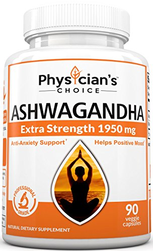 1950mg Ashwagandha Organic: Dr. Formula, Anxiety Relief, Stress Relief, Adrenal Support, Thyroid Support, Highest Potency Available, 90 Veggie Ashwagandha Capsules, Adrenal Fatigue Supplements
