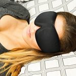 [TOP RATED] Sleep Mask with Earplugs PREMIUM Quality Contoured Eye Mask – Lightweight With Adjustable Strap – Blocks The Light Completely – Best For Travel, Insomnia or Quiet Night Sleep
