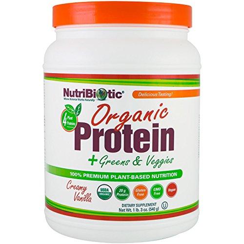 Organic Protein + Greens & Veggies, Creamy Vanilla Nutribiotic 19 oz Powder