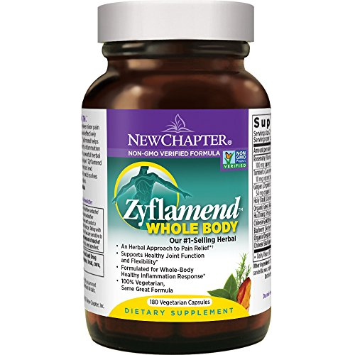 New Chapter Joint Supplement + Herbal Pain Relief - Zyflamend Whole Body for Healthy Inflammation Response - 180 ct