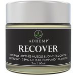 ADHEMP Recover Natural Hemp Oil Pain Relief Cream for Arthritis, Back, Knee, Hands, Neck, Feet, Muscle Soreness, Inflammation, Joints, Carpal Tunnel – 75 Mg of Pure Hemp, 10% Emu Oil, Aloe Vera – 2 Oz