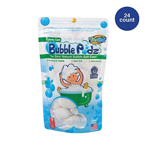 TruKid Eczema Bubble Podz, Natural Bubble Bath with Oatmeal, Aloe & Vit E, Unscented, 24 count