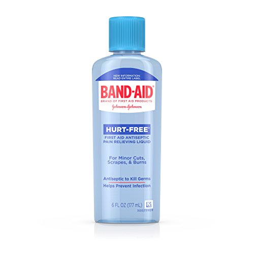 Band-Aid Brand First Aid Hurt-Free Antiseptic Wash Treatment, 6 Fl. Oz
