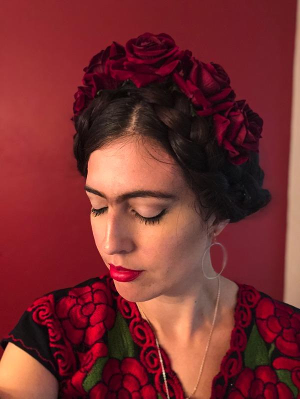 Frida kahlo halloween costume makeup