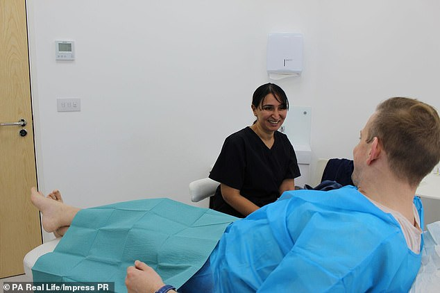 Elite Aesthetics clinic in London, where Mr Croxton booked his first jab, claims to provide 'firmer, stronger and larger more powerful erections' with the P-shot