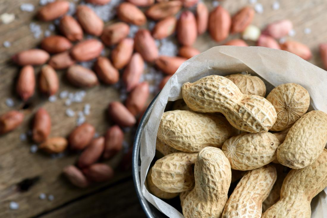 Peanuts in and out of the shell