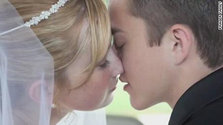 Katie and Dalton Prager on their wedding day.
