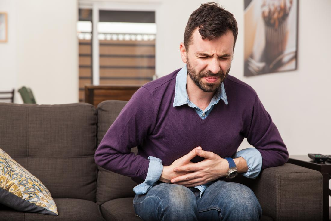 Taking too much ibuprofen can cause stomach pain.
