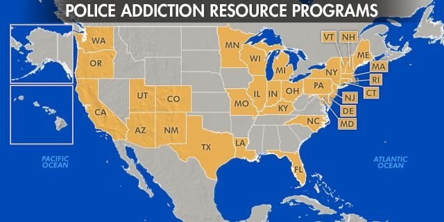 Police departments in at least 35 states launching outreach programs to combat addiction.