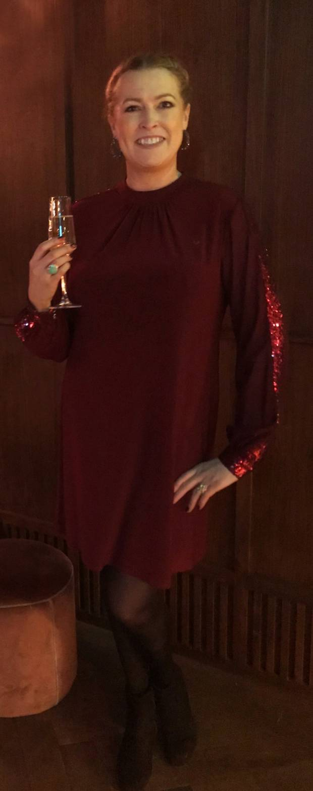 Audrey Kane after losing 22kg and reaching her goal weight, pictured at her recent Christmas party