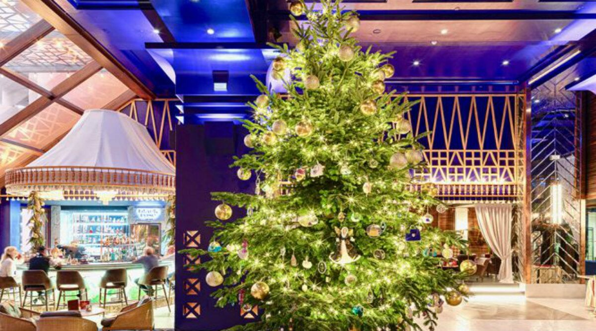 Christmas Tree With Gems and Ornaments Worth $ 15 Million at Spanish Resort Dazzles
