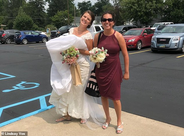 Lindsay's physical therapists matched her own determination and never had her use a walker or cane. Before long she was walking down the aisle as a bridesmaid - unsupported