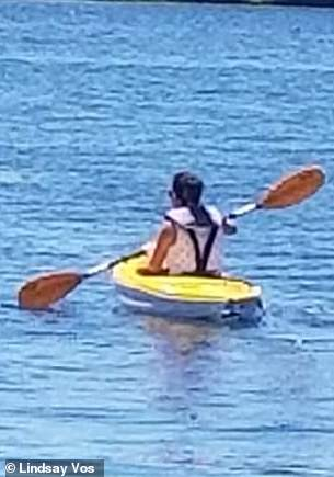 Lindsay hasn't regained full strength in her left hand, but she's back to kayaking with an adaptive paddle nonetheless
