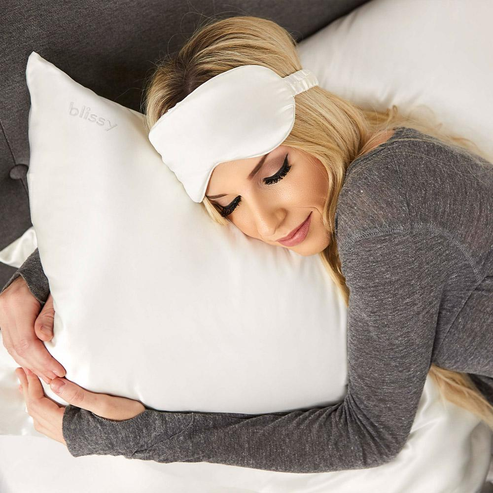 blissy_white_silk pillowcase