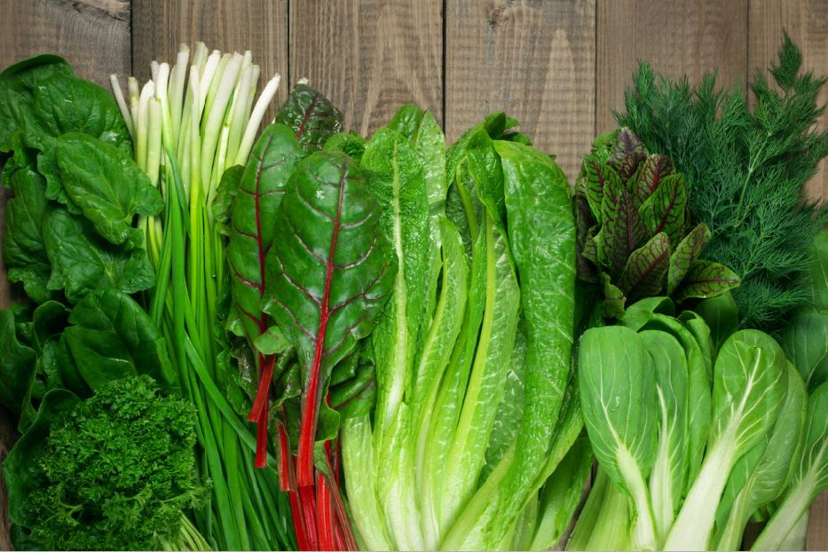 stressed out leafy greens will help to reduce stress